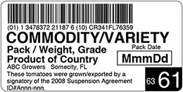 Walmart Label